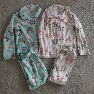 Carter's girls flannel pajamas
